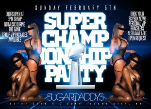 SUPER CHAMPIONSHIP PARTY<BR>FEB 5TH 2017 DOORS OPEN 5PM<BR>SKYBOX RESERVATIONS NOW