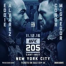 UFC 205 &#8211; ALVAREZ VS MCGREGOR<BR>
