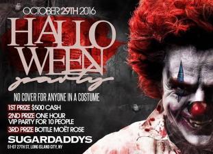 HALLOWEEN COSTUME PARTY<BR>SUGARDADDYS NYC STRIP CLUB
