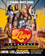 I LOVE THURSDAYS AT SUGARS with music by DJ MONEY MIKE DJ STATIC